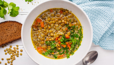 Spiced Moroccan Vegetable Soup with Chickpeas, Cilantro, & Lemon (Harira)