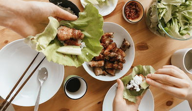 Bacon Wrapped Pork Loin Lettuce Wraps