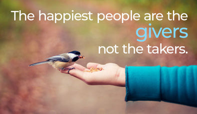 Generosity… Why it's better to give than receive.