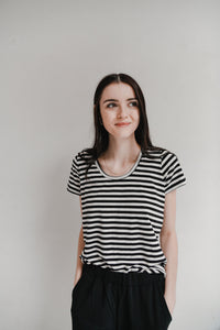 The Bamboo Perfect T in Stripes