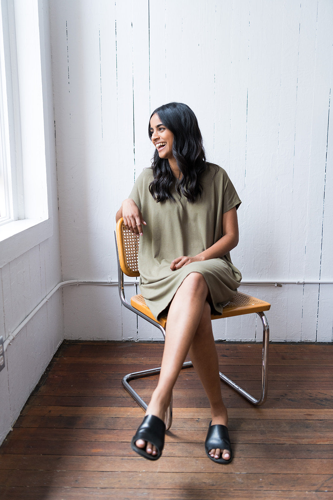 The Everyday Dress in Olive