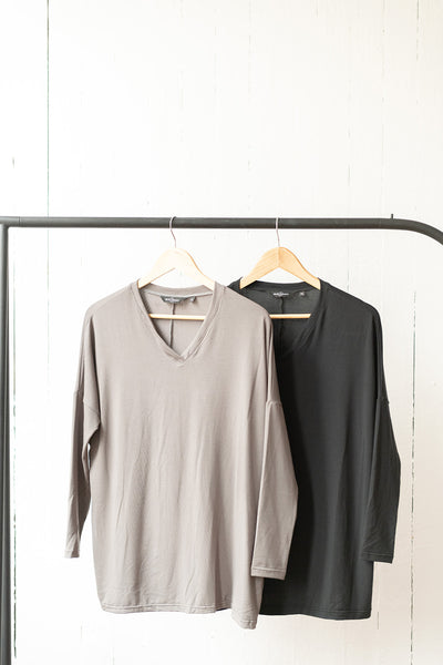 The Tunic in Charcoal