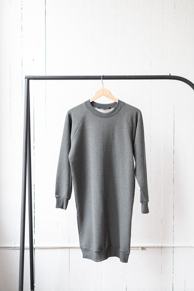 The Sweatshirt Dress in Charcoal