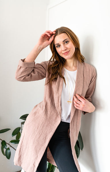The Linen Duster in Blush