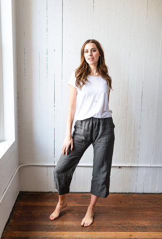 The Linen Crops in Charcoal