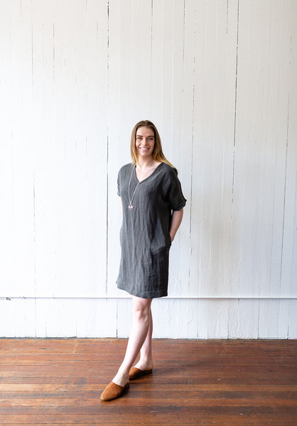 The Caftan in Charcoal