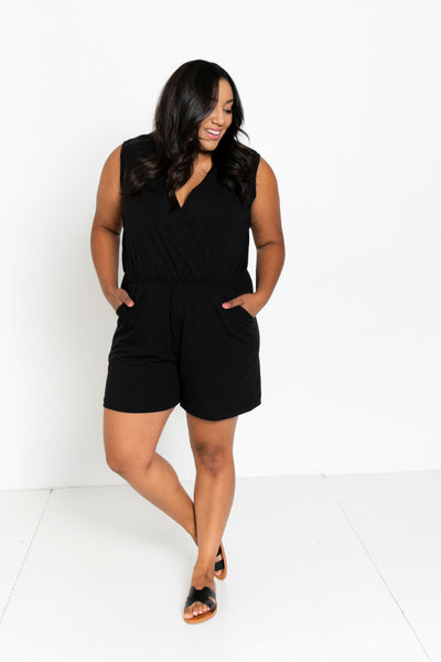 The Short Romper in Black