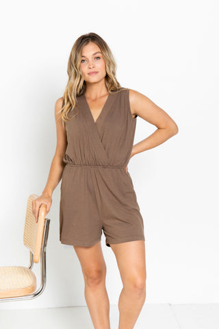 The Short Romper in Americano