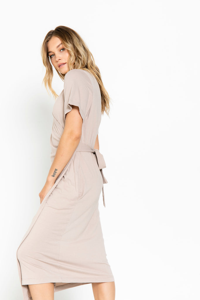 The Wrap Dress in Fawn