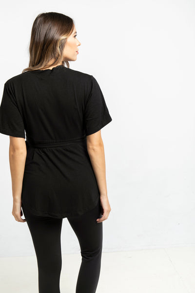 The Wrap Top in Black