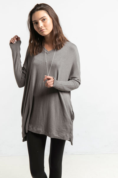 The Sweater Tunic in Mink