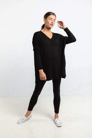 The Sweater Tunic in Black