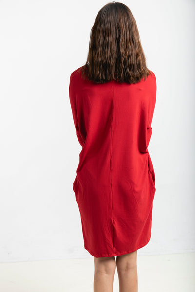 The Long Sleeve Everyday Dress in Chilli