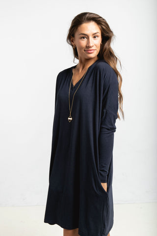 The Long Sleeve Everyday Dress in Navy