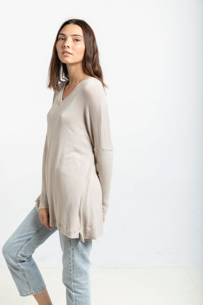 The Sweater Tunic in Oyster