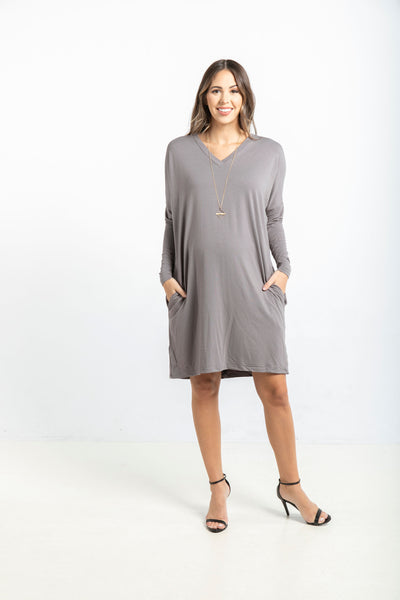 The Long Sleeve Everyday Dress in Mink