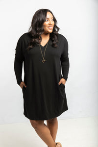 The Long Sleeve Everyday Dress in Black