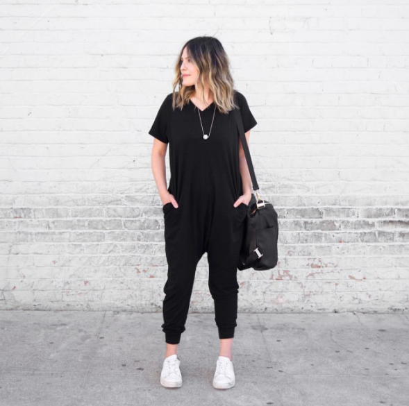 The Romper in Black