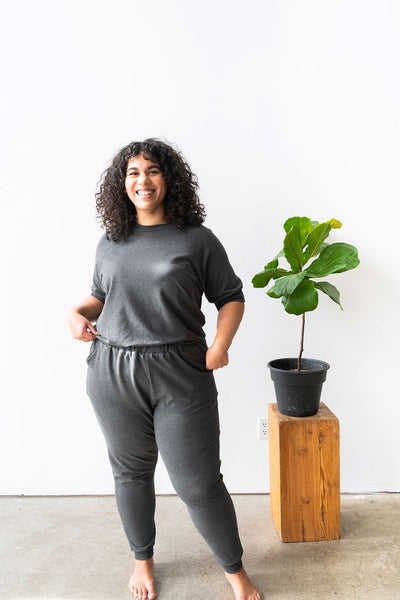 The High Waisted Jogger in Charcoal