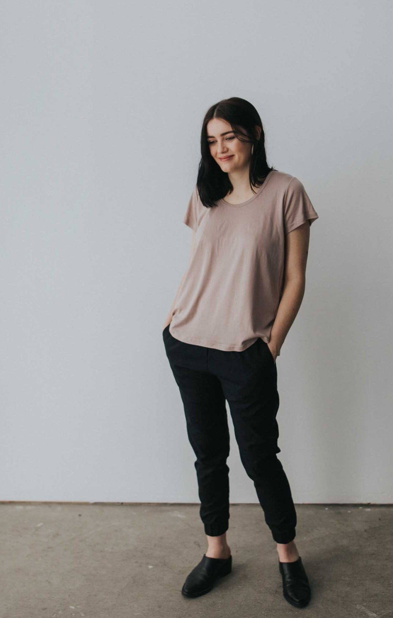 The Bamboo Perfect Tee in Fawn