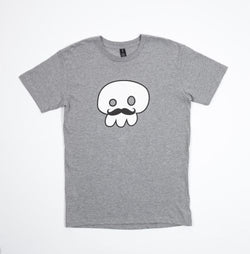 T-Shirt | DJ Sizzle 'Moustache' on Grey
