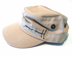 Hat | Military Style Cap in Bone