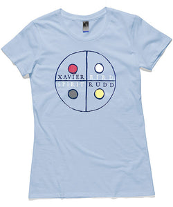 T-Shirt | Circles on Blue