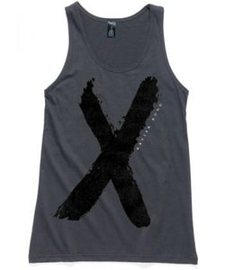 Singlet | 'X' on Charcoal