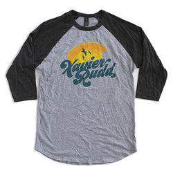 T-Shirt | 'Sunset' on Grey/Charcoal Raglan