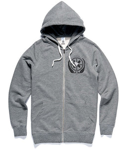 Hoodie | UN Logo on Grey Zip