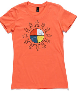 T-Shirt | 'Unite' on Tangerine