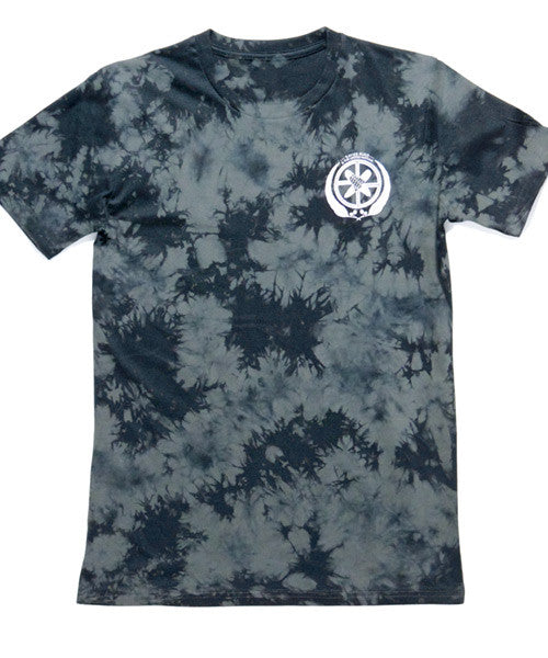 T-Shirt | UN Logo on Charcoal Tie Dye