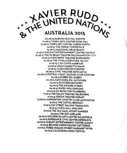 T-Shirt | Xavier Rudd & the United Nations 2015 Tour Dates