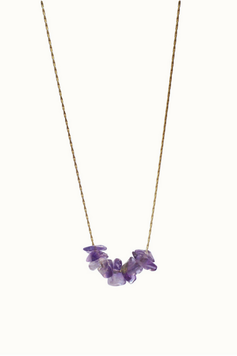 Mini Amethyst Stone Necklace