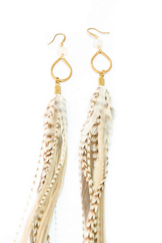 LUCY FEATHER EARRINGS