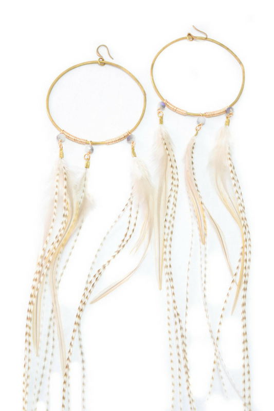 MARIE FEATHER HOOPS