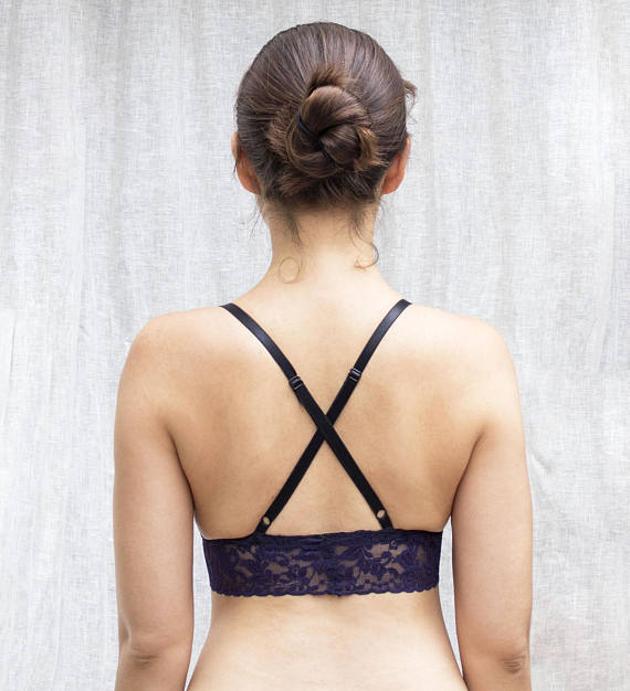 Purple Triangle Bra