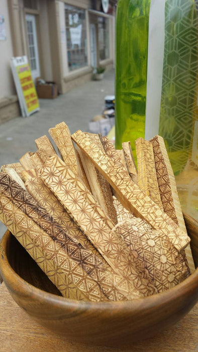 Laser Etched Palo Santo Sticks