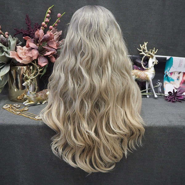 Limited Wig IM15 Long Ash Blonde Lace Wig