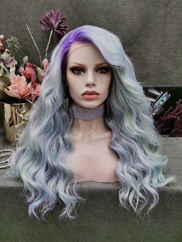 Ombre Purple Curly Wigs N32-C164