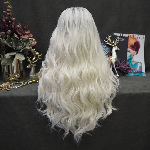 Limited Wig IM22 Grey Ombre White Wig