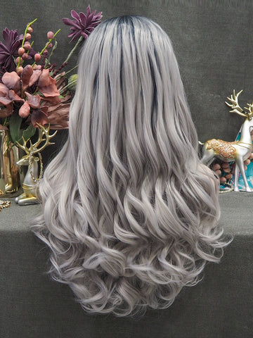 Dark Root Ombre Grey Wigs 2020 IM710906
