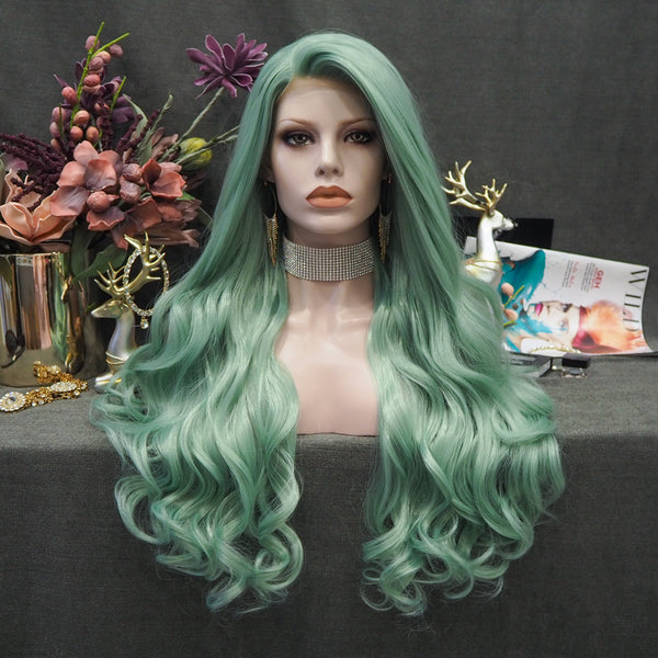 New Arrival Green Wig W100