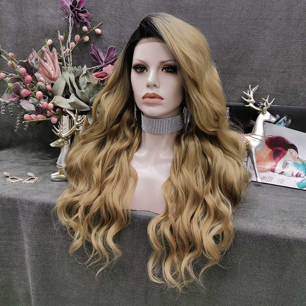Brown Highlight Wig W136