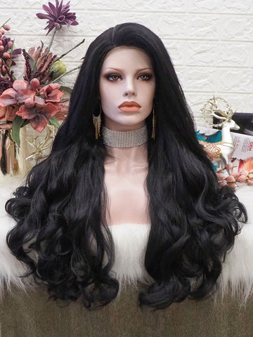 Jet Black Full Lace Front Wigs