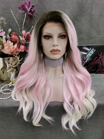 Charming Ombre Pink Synthetic Wigs PINK156
