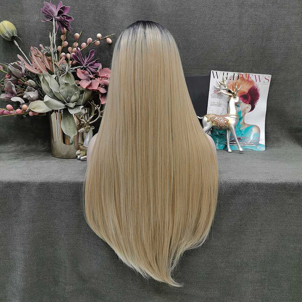 Dark Root Blonde Wig-W132