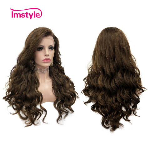 Brown Highlight Blonde Color Spiral Curl Lace Wigs IM6827