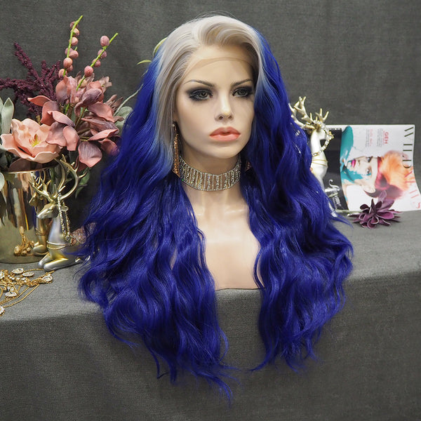 Limited Wig IM13 Body Wave Grey to Dark Blue
