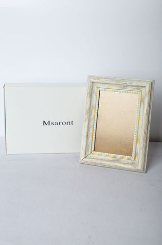Msaront White Wooden Photo Frame 5 x 7'' Fashion Style